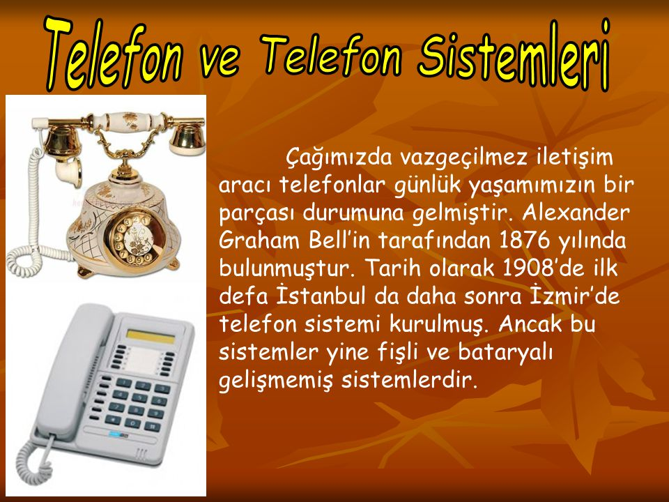 Telefon ve Telefon Sistemleri