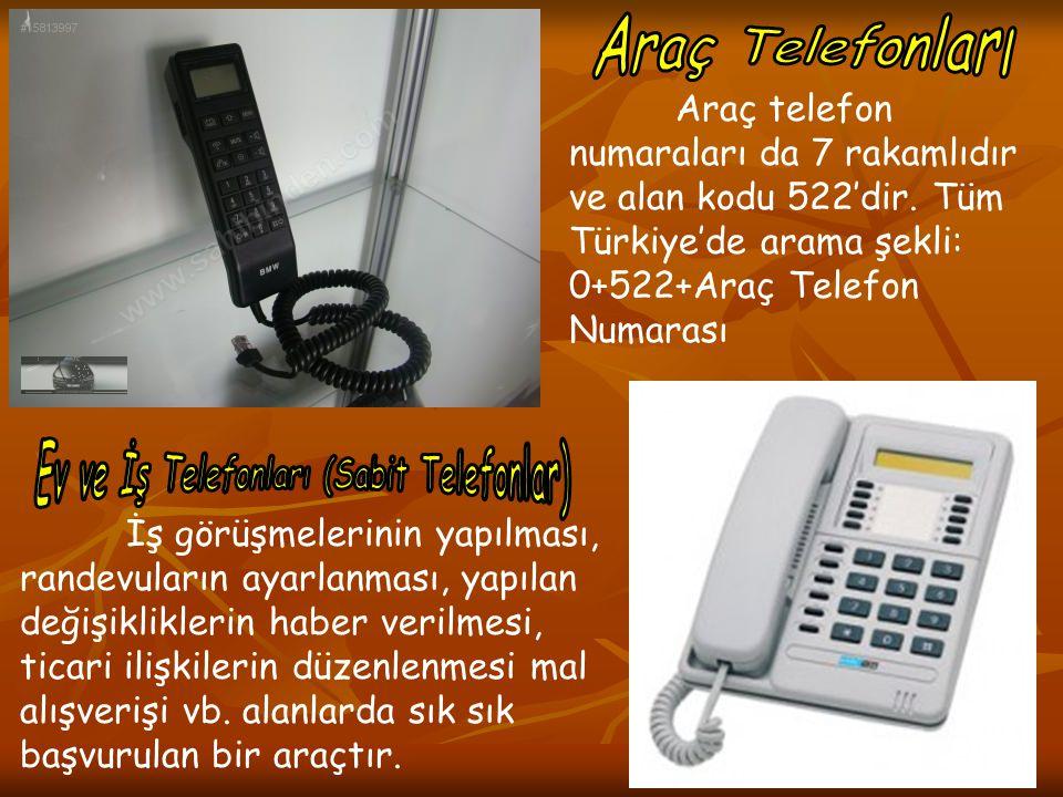 Ev ve İş Telefonları (Sabit Telefonlar)