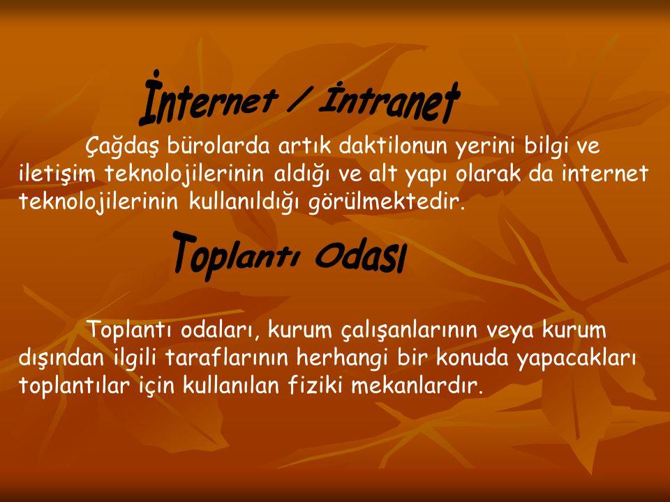 İnternet / İntranet Toplantı Odası