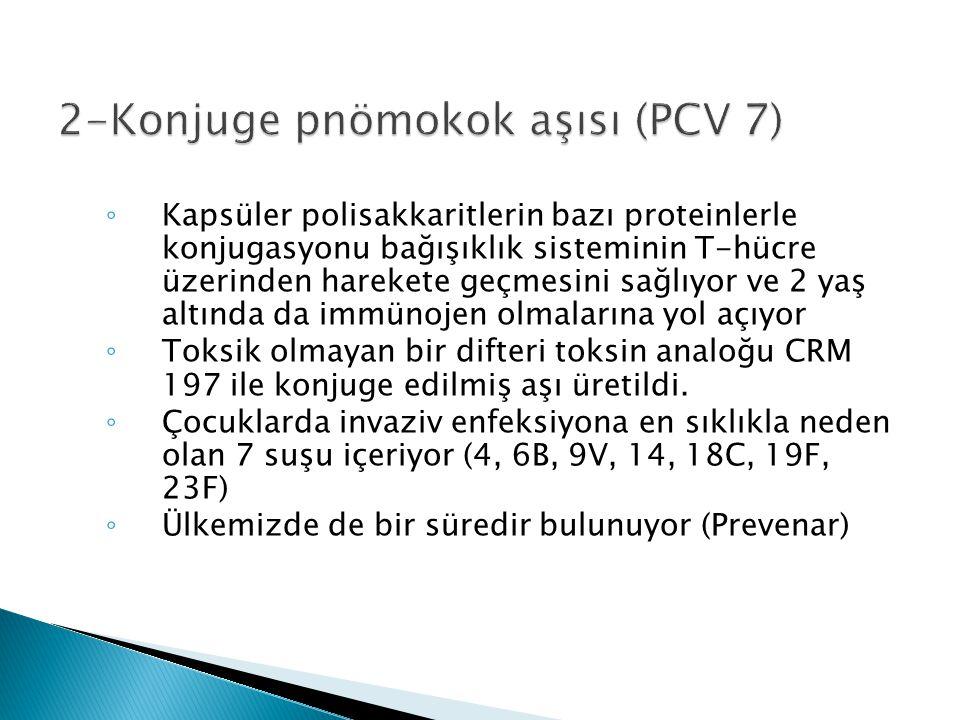 2-Konjuge pnömokok aşısı (PCV 7)