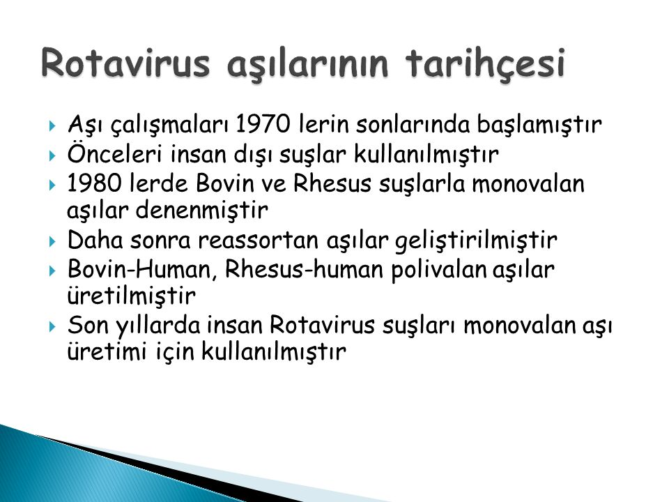Rotavirus aşılarının tarihçesi