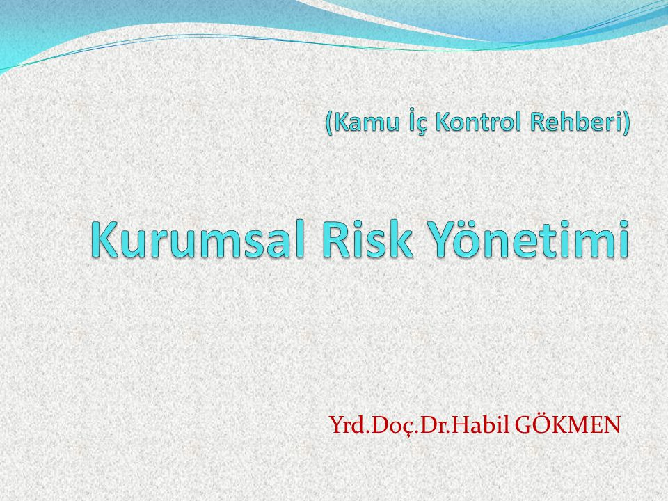 (Kamu İç Kontrol Rehberi) Kurumsal Risk Yönetimi