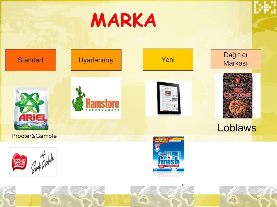 MARKA Standart Uyarlanmış Yeni Dağıtıcı Markası Loblaws Procter&Gamble