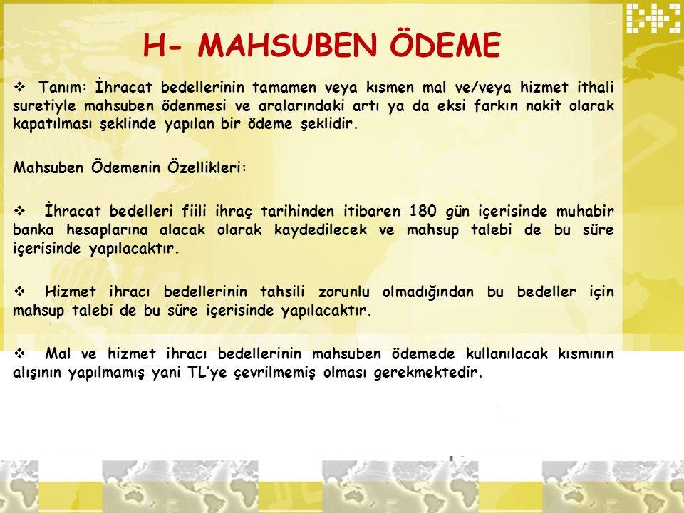 H- MAHSUBEN ÖDEME