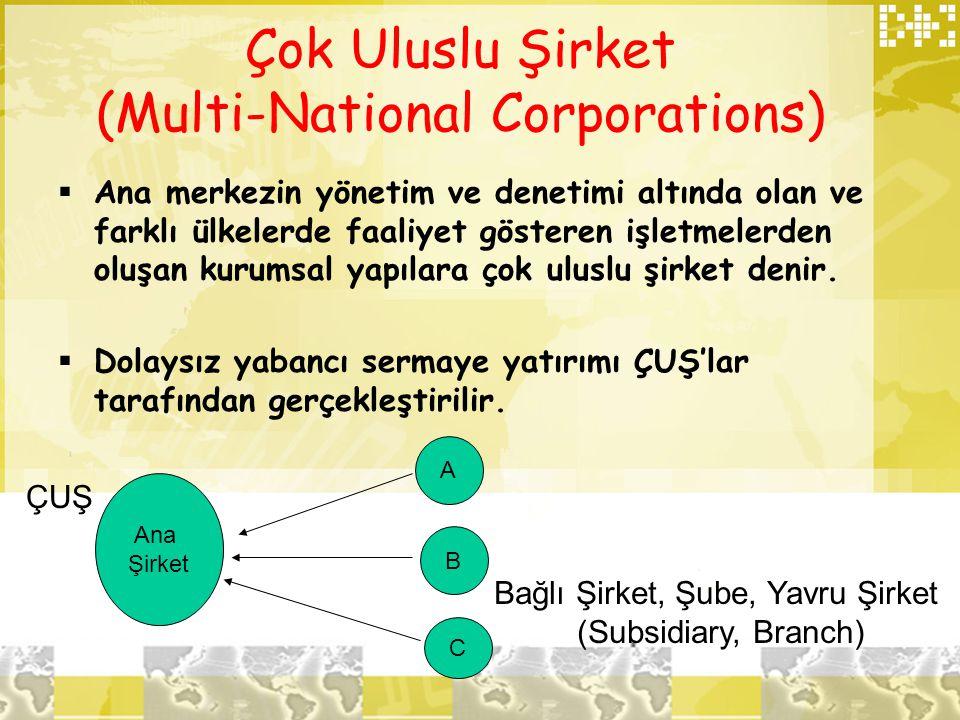 Çok Uluslu Şirket (Multi-National Corporations)