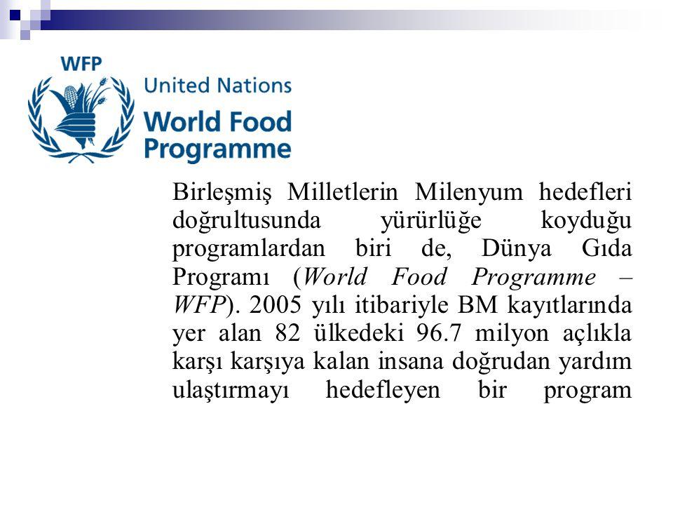 Birleşmiş Milletlerin Milenyum hedefleri doğrultusunda yürürlüğe koyduğu programlardan biri de, Dünya Gıda Programı (World Food Programme – WFP).