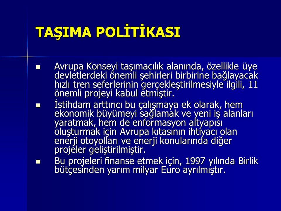 TAŞIMA POLİTİKASI