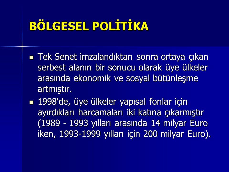 BÖLGESEL POLİTİKA