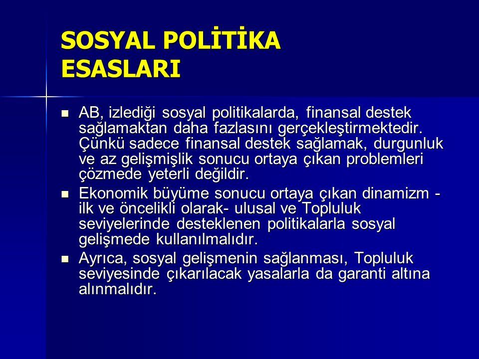 SOSYAL POLİTİKA ESASLARI
