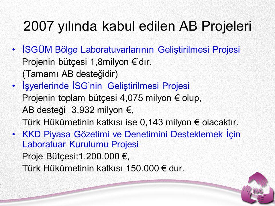 2007 yılında kabul edilen AB Projeleri