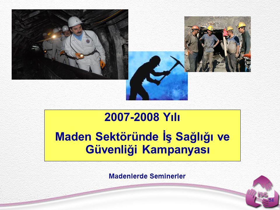 2007-2008 Yılı Maden Sektöründe İş Sağlığı ve Güvenliği Kampanyası