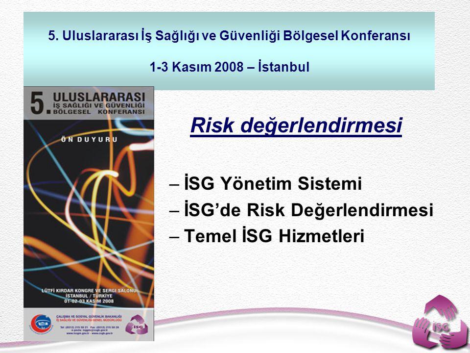 Risk değerlendirmesi İSG Yönetim Sistemi İSG'de Risk Değerlendirmesi