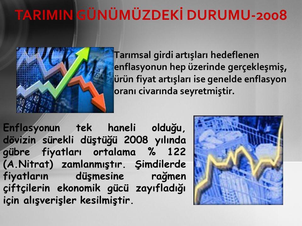 TARIMIN GÜNÜMÜZDEKİ DURUMU-2008
