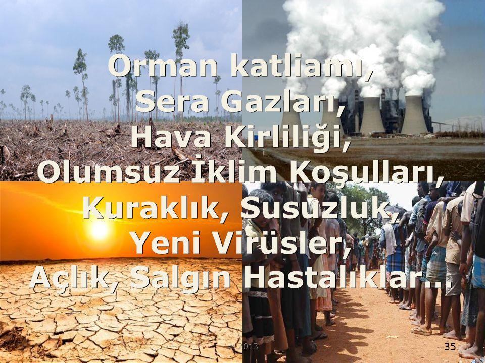 Olumsuz İklim Koşulları, Açlık, Salgın Hastalıklar…