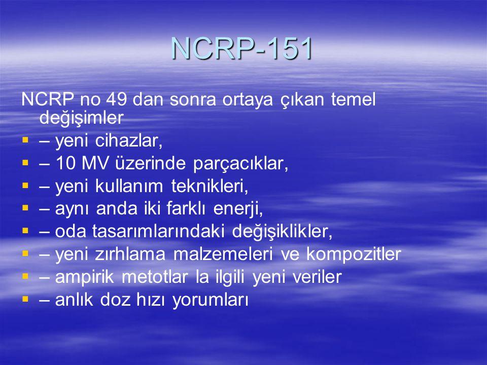 NCRP-151 NCRP no 49 dan sonra ortaya çıkan temel değişimler