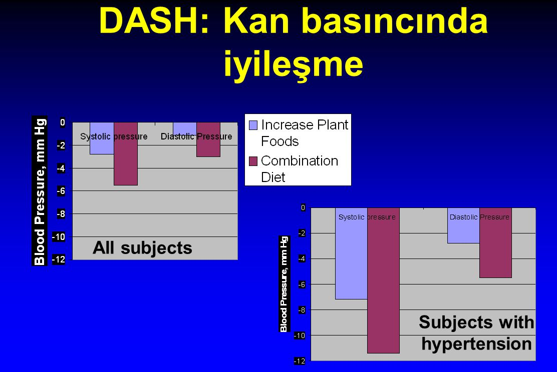 DASH: Kan basıncında iyileşme