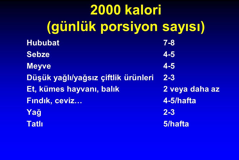 2000 kalori (günlük porsiyon sayısı)