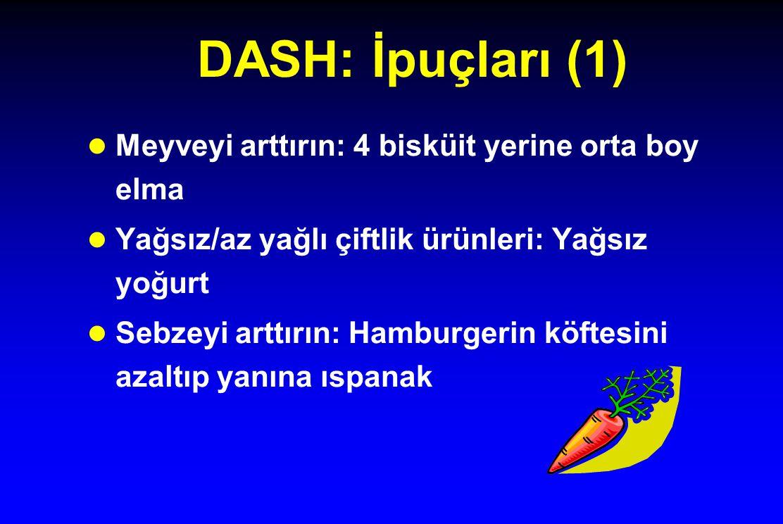 DASH: İpuçları (1) Meyveyi arttırın: 4 bisküit yerine orta boy elma