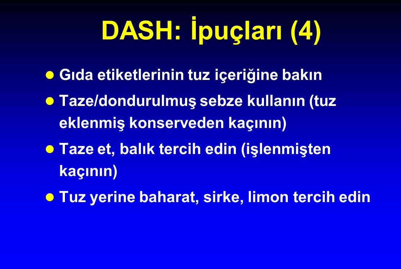 DASH: İpuçları (4) Gıda etiketlerinin tuz içeriğine bakın
