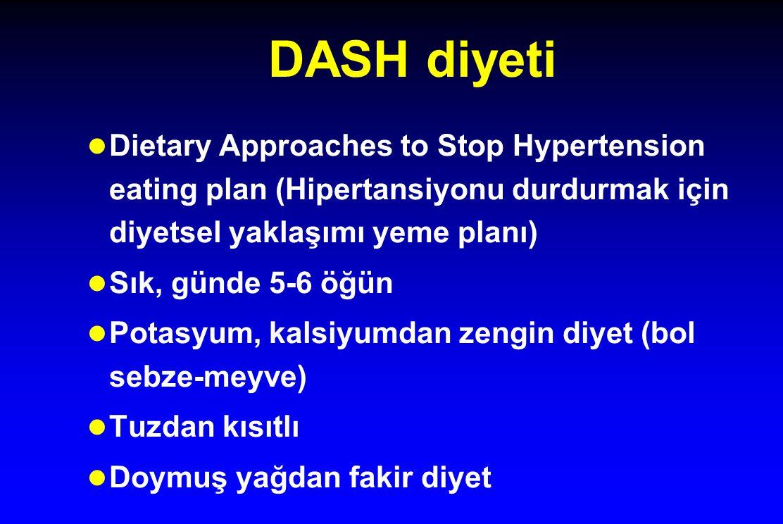 DASH diyeti Dietary Approaches to Stop Hypertension eating plan (Hipertansiyonu durdurmak için diyetsel yaklaşımı yeme planı)