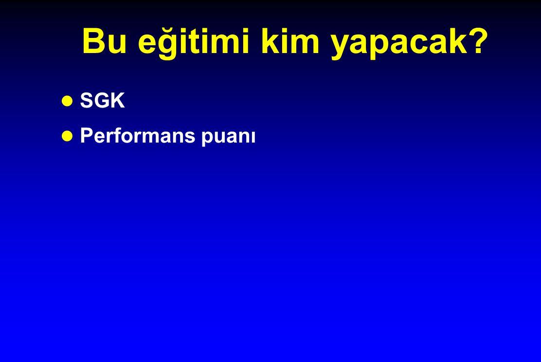 Bu eğitimi kim yapacak SGK Performans puanı