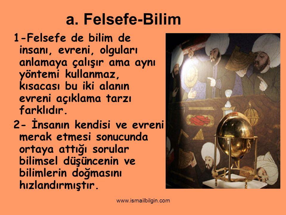 a. Felsefe-Bilim