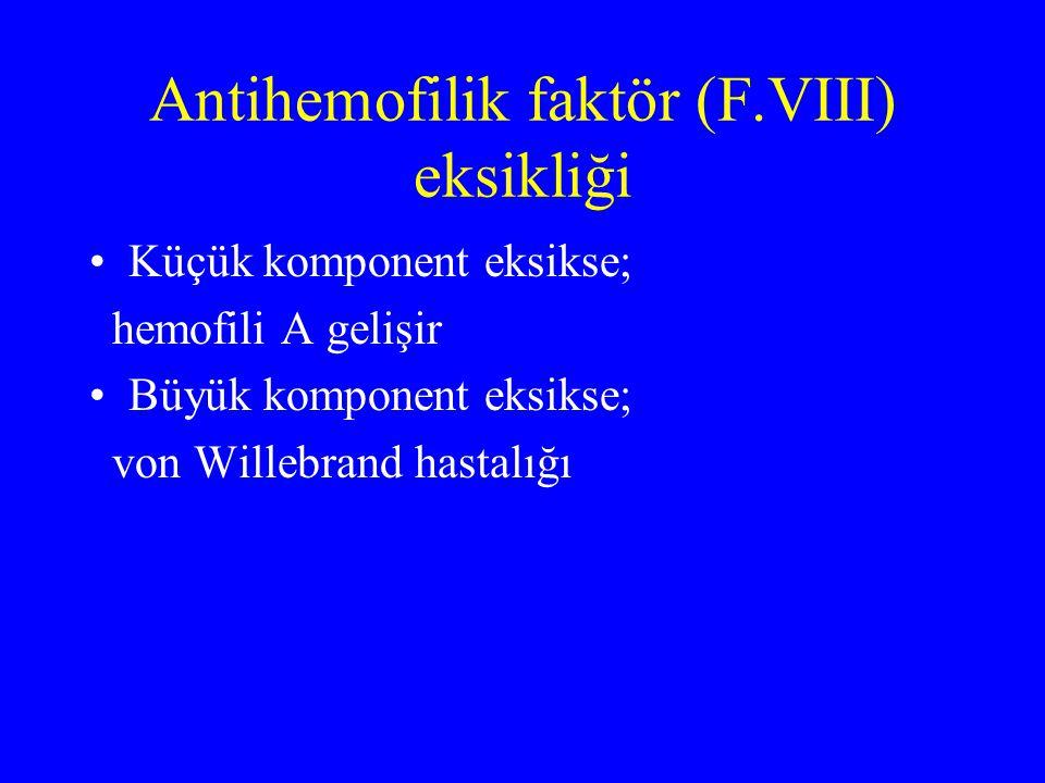 Antihemofilik faktör (F.VIII) eksikliği
