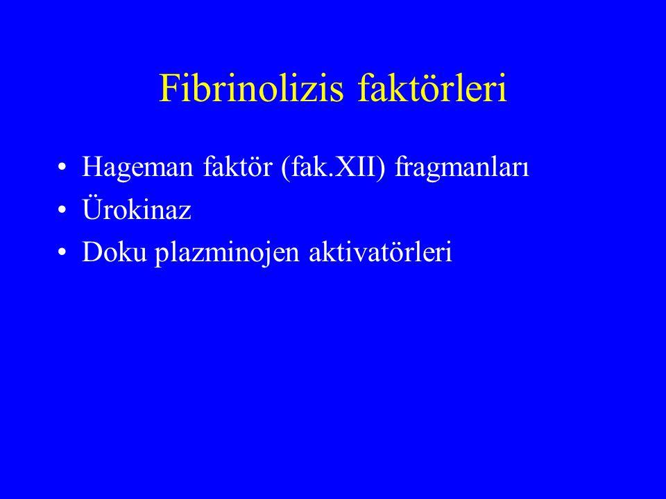 Fibrinolizis faktörleri