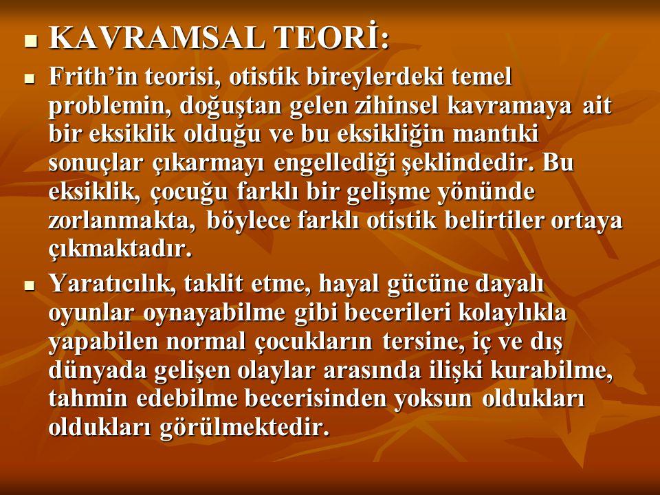 KAVRAMSAL TEORİ: