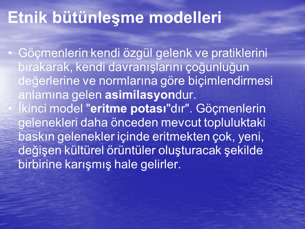 Etnik bütünleşme modelleri