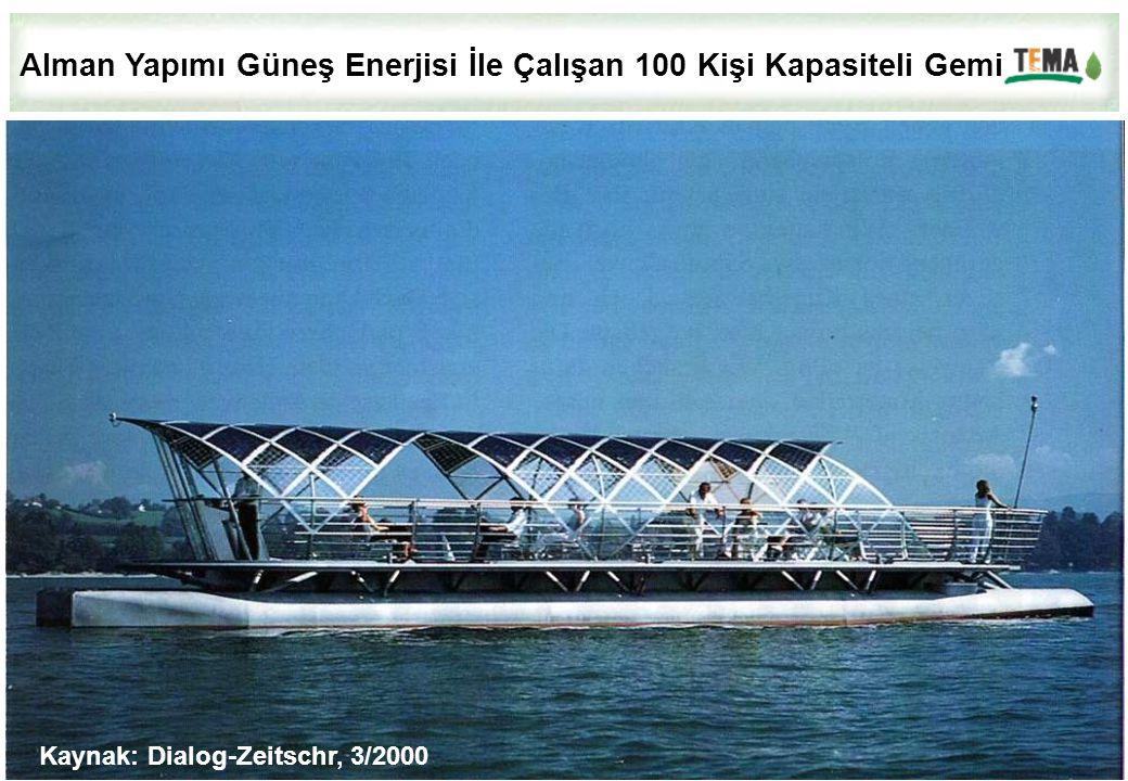 Alman Yapımı Güneş Enerjisi İle Çalışan 100 Kişi Kapasiteli Gemi