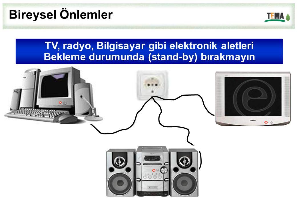 Bireysel Önlemler TV, radyo, Bilgisayar gibi elektronik aletleri