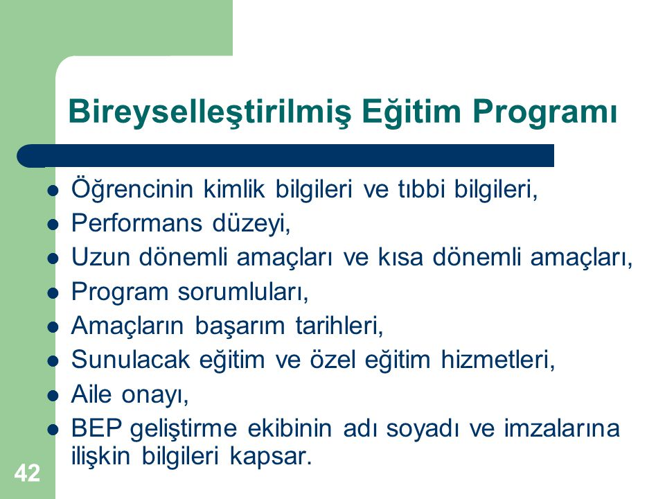 Bireyselleştirilmiş Eğitim Programı