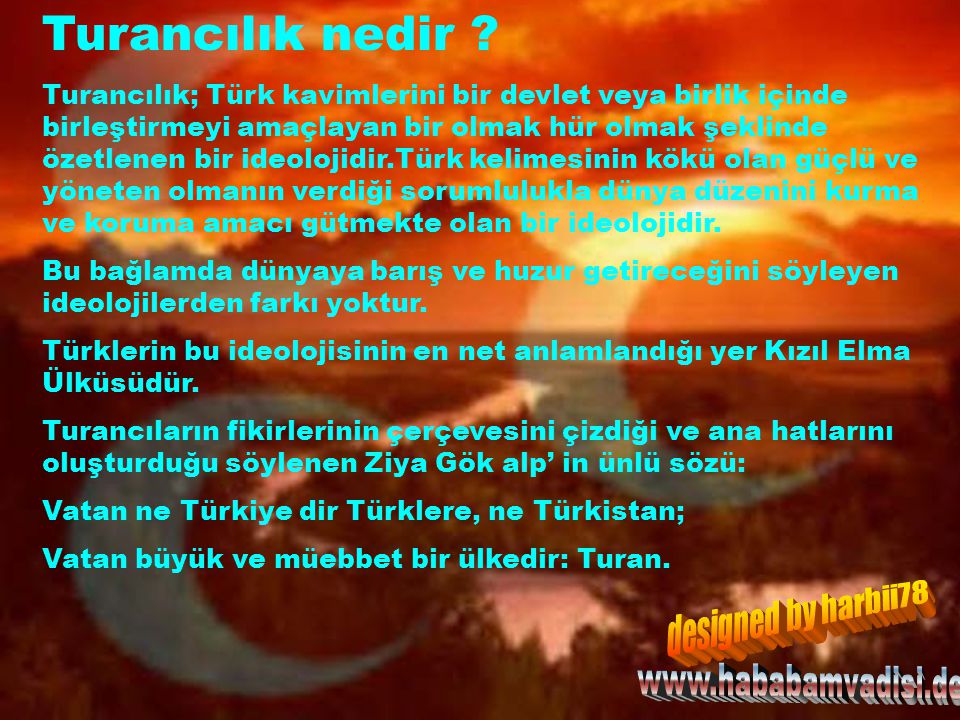 Turancılık nedir designed by harbii78