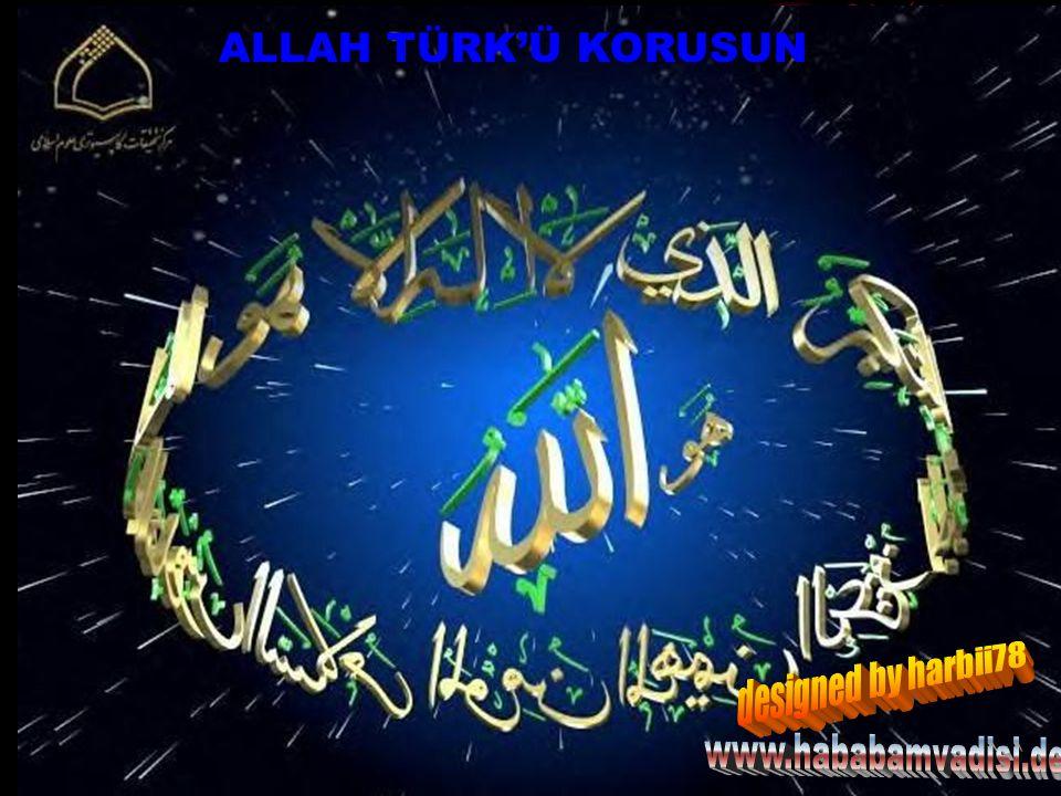 ALLAH TÜRK'Ü KORUSUN designed by harbii78 www.hababamvadisi.de