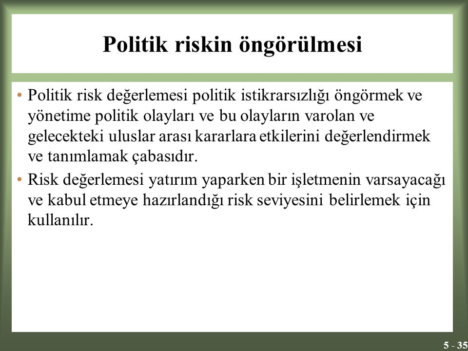 Politik riskin öngörülmesi