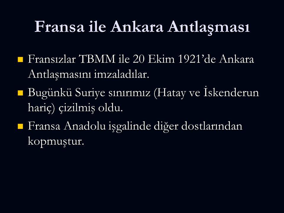 Fransa ile Ankara Antlaşması