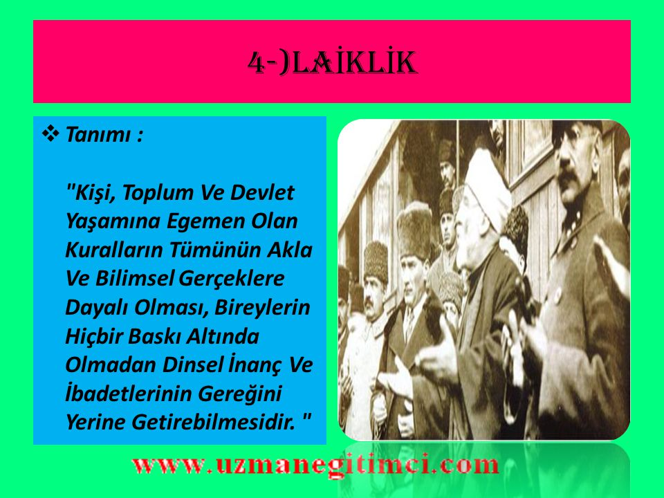 4-)LAİKLİK