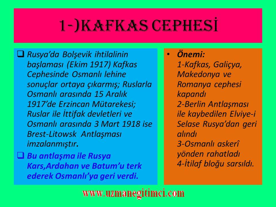1-)KAFKAS CEPHESİ