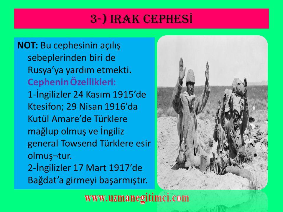 3-) IRAK CEPHESİ