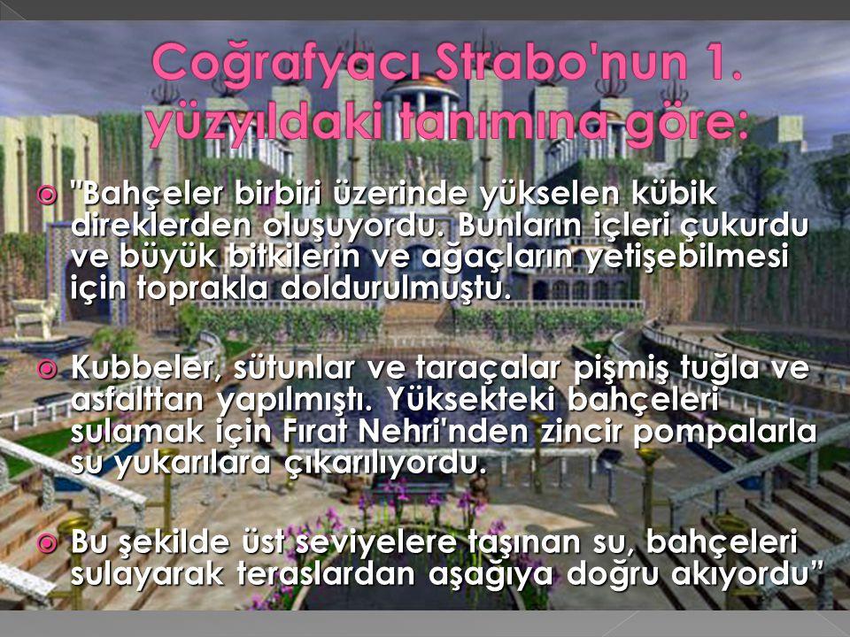 Coğrafyacı Strabo nun 1. yüzyıldaki tanımına göre: