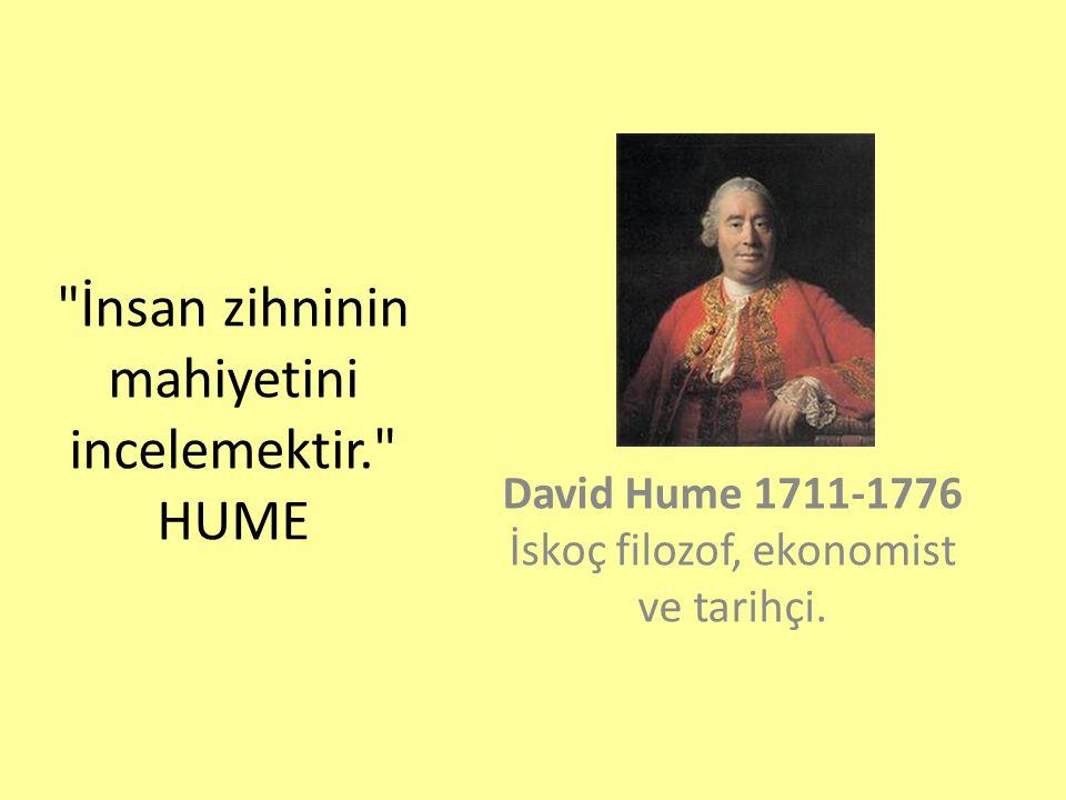 İnsan zihninin mahiyetini incelemektir. HUME