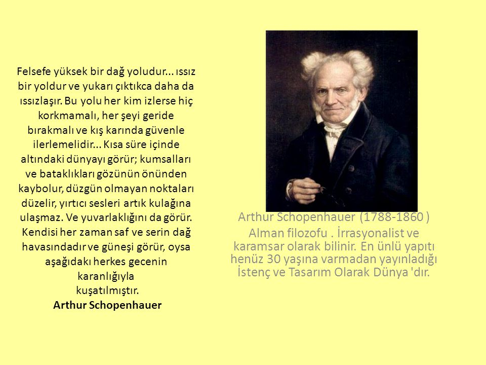 Arthur Schopenhauer (1788-1860 )