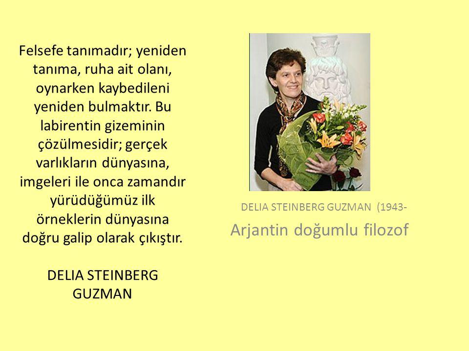 DELIA STEINBERG GUZMAN (1943- Arjantin doğumlu filozof