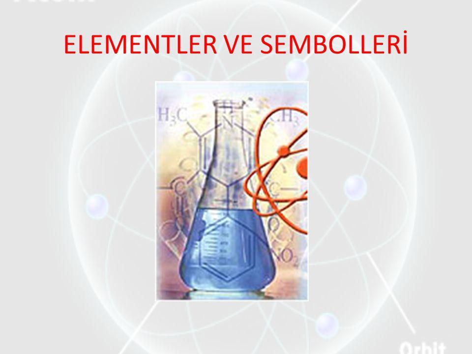 ELEMENTLER VE SEMBOLLERİ