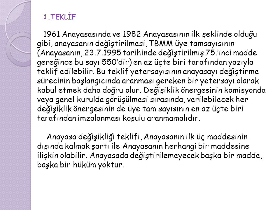 1.TEKLİF