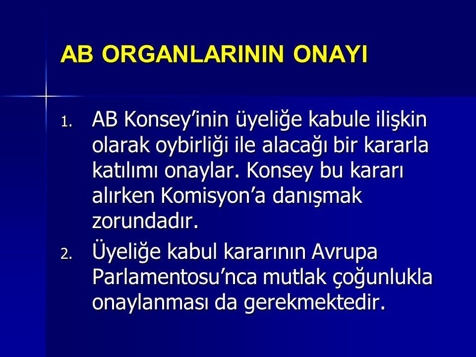 AB ORGANLARININ ONAYI