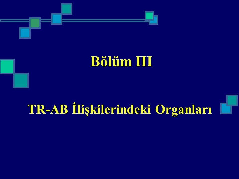 TR-AB İlişkilerindeki Organları