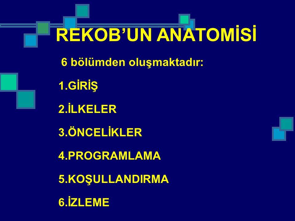 REKOB'UN ANATOMİSİ 1.GİRİŞ 2.İLKELER 3.ÖNCELİKLER 4.PROGRAMLAMA