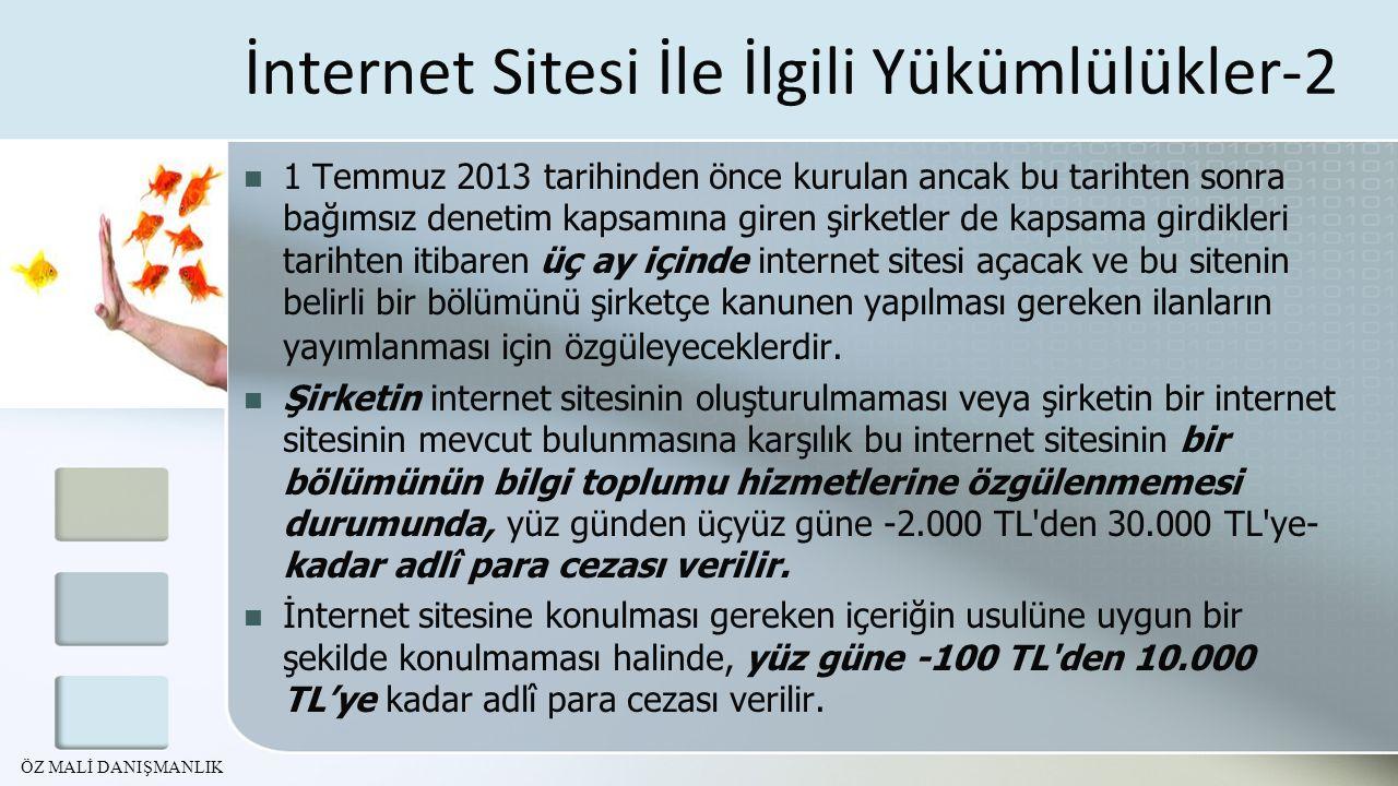 İnternet Sitesi İle İlgili Yükümlülükler-2